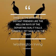 sweet is the memory of dist washington irving about friendship