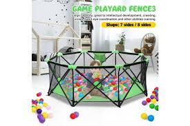 Babys Safety Tent Playpen Fence Safety Barrier Game Playard Infants Kids Indoor Home Matt Blatt
