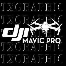 Dji Mavic Pro Decal Quadcopter Camera Drone Sticker Vinyl Ebay