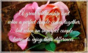 a great relationship isn t when a perfect couple come together