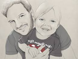 Father & Son - Abby Wright Illustration