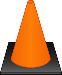 Orange Traffic Cone - Free Clip Art