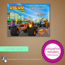 Invitaciones Digitales Blaze Monster Machines 50 00 En Mercado