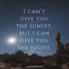 literary quotes on sensational sunsets