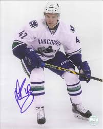 Sven Bärtschi Autographed Vancouver Canucks 8 x 10 Photo - Westcoast  AuthenticWestcoast Authentic