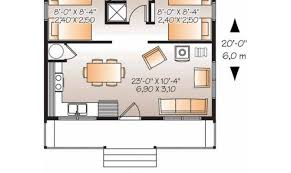 country house plan two bedroom square