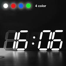 led modern night alarm table wall clock