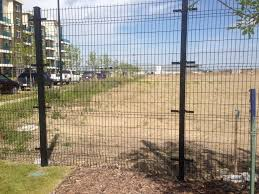 Temporary Fence Construction Panels Olivec Canada Ltd Front Yard Fence Backyard Fences Fence Landscaping