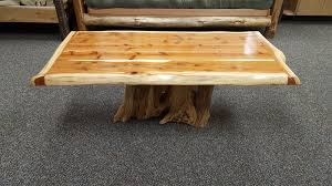 red cedar stump coffee table ez