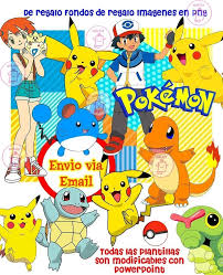 Kit Imprimible Pokemon Cotillon Cumpleanos 100 Editable 1 990