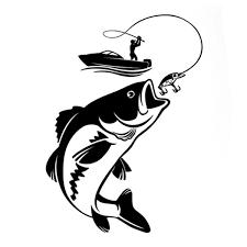Fishing Car Stickers Interesting Fisherman Hobby Fish Boat Vinyl Decal 12 3cm 17 1cm Wish