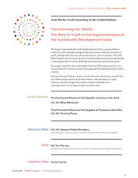 Transforming Our World: The Role of Youth in the Implementation of the  Sustainable Development Goals