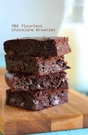pb2 flourless chocolate brownies