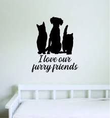 Furry Friends Wall Decal Sticker Room Decor Art Vinyl Cat Dog Animal S Boop Decals