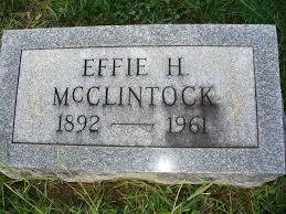 Effie Hamilton McClintock (1892-1961) - Find A Grave Memorial