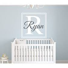 Amazon Com Custom Square Boy Name Wall Decal Boys Kids Room Decor Nursery Wall Decals Monogram Wall Decal Stickers Baby
