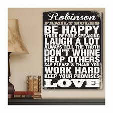 Personalized Family Rules Canvas Print Wall Art