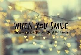 ada alasan untuk tersenyum meskipun juga ada alasan