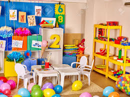 Interior Of Kids Game Room With Toys In Kindergarten Stock Photo Picture And Royalty Free Image Image 51119781