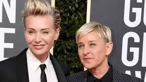Portia de Rossi standing by Ellen during TV show drama fall-out - The Beat  92.5