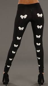 Black Bow Decal Leggings By Sauce Clothing Apparel Addiction