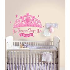 Roommates Princess Sleeps Here Peel And Stick Giant Wall Decal With Personalization Walmart Com Walmart Com