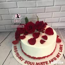 كيكة كريم وتزين ورد طبيعي حسب طلب يوجد Sweet Cake كيك حسب