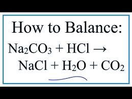 how to balance na2co3 hcl nacl