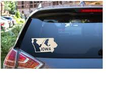 Iowa Fishing Vinyl Decal Iowa Sticker For Windows Tumblers Tackle Box Tablets State Pride Decal Fun Gift For Fish Vinyl Decals Boat Decals Fishing Decals