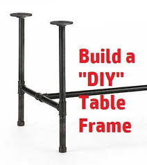 industrial black iron pipe table base