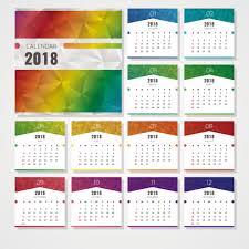 2018 year calendar wallpaper