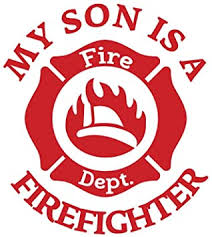 Amazon Com Pressfans My Son Is A Firefighter Firefighter Car Laptop Wall Sticker Automotive