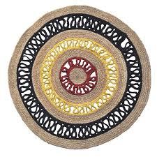 rangoli 200cm round indoor outdoor jute rug