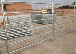 Portable 1 8m Or 1 6m High 6 Or 5 Bar Farm Gate Fence Oval Tube Cattle Fence Panels