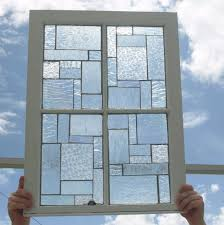 clear textured stained glass mosaic