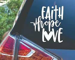 Faith Hope Love Laptop Car Vinyl Window Decal Sticker Bold Letter Tumbler Cell