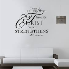 I Can Do All Things Through Christ Vinyl Wall Decal Quotes Wall Stickers Mural Art Wall Decor Bedroom Living Room Wall Decals Quotes Wall Decor Bedroomwall Sticker Aliexpress