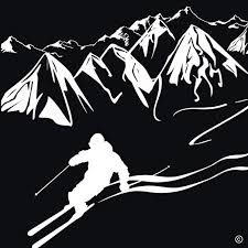 Amazon Com Downhill Skiing Wall Decal Indoor Ski Wall Decal Unique Ski Gifts For Men Or Women Ski Wall Decor Ski Slope Wall Art Ski Snow Decoration Ski Wall Art Vinyl Wall Decal Skiing White Home Kitchen