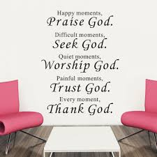 bible wall stickers home decor living room praise seek worship