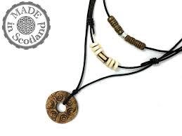 leather cotton surfer necklaces ebony