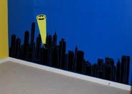 Gotham Skyline Batman Super Hero Avengers Buildings Wall Decal Sticker Lucky Girl Decals