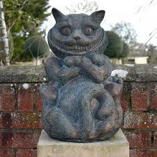 the cheshire cat garden ornament