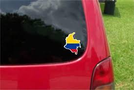 Colombia Outline Map Flag Vinyl Decals Stickers Full Etsy