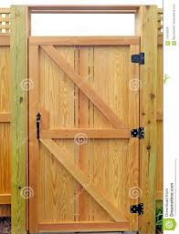 New Wood Gate Detail Stock Photo Image Of Wood Gate 119165078
