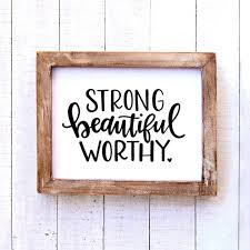 Strong Beautiful Worthy Vinyl Decal This Life Made Easy