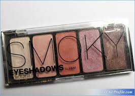 h m smoky pink eyeshadow palette review