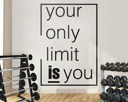 Gym Inspirational Wall Decal Kuarki Lifestyle Solutions