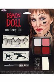 demon broken doll face paint makeup kit