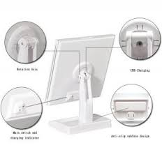 mirror beauty touch dimmable tri fold