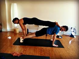 easy two person yoga challenge abc news